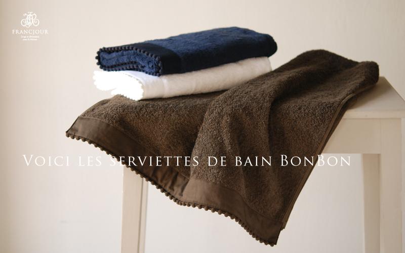 フランジュール ボンボンタオルのバスマット。気持ちよい肌触り、吸水性の良さが特徴です。