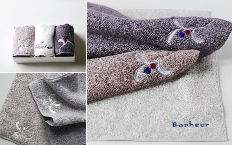 フランジュールの高級タオル、ボヌール。幸運のモチーフを使った発色の良いタオルです。